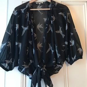 Blouse with birds, only worn a few times